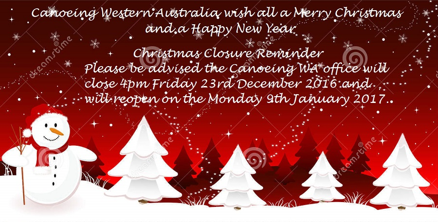 cwa office hours over christmas and new year paddle wa